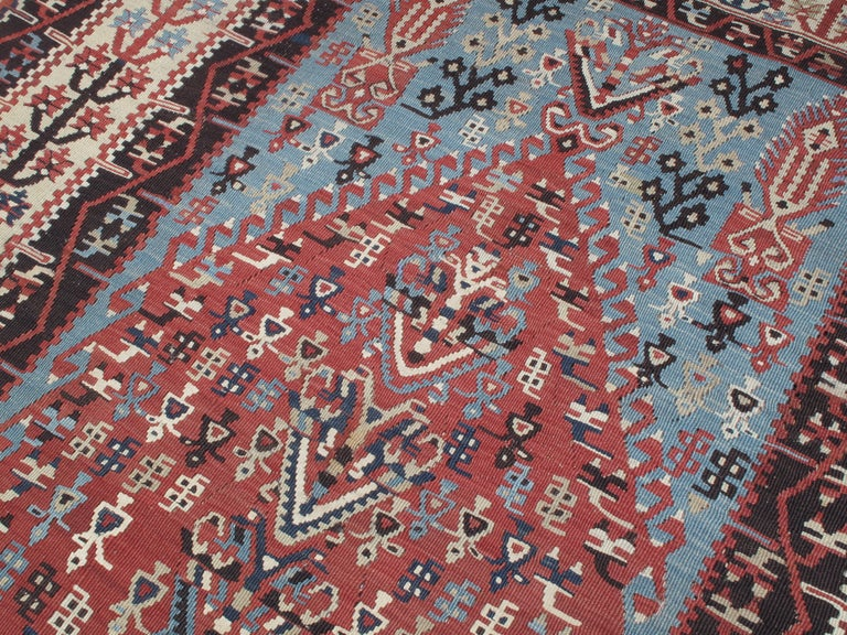 Antique Erzurum Kilim In Excellent Condition For Sale In New York, NY