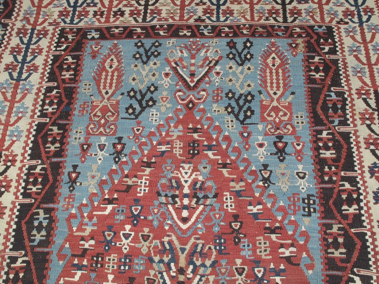 Hand-Woven Antique Erzurum Kilim For Sale
