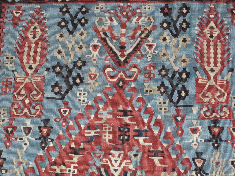 19th Century Antique Erzurum Kilim For Sale