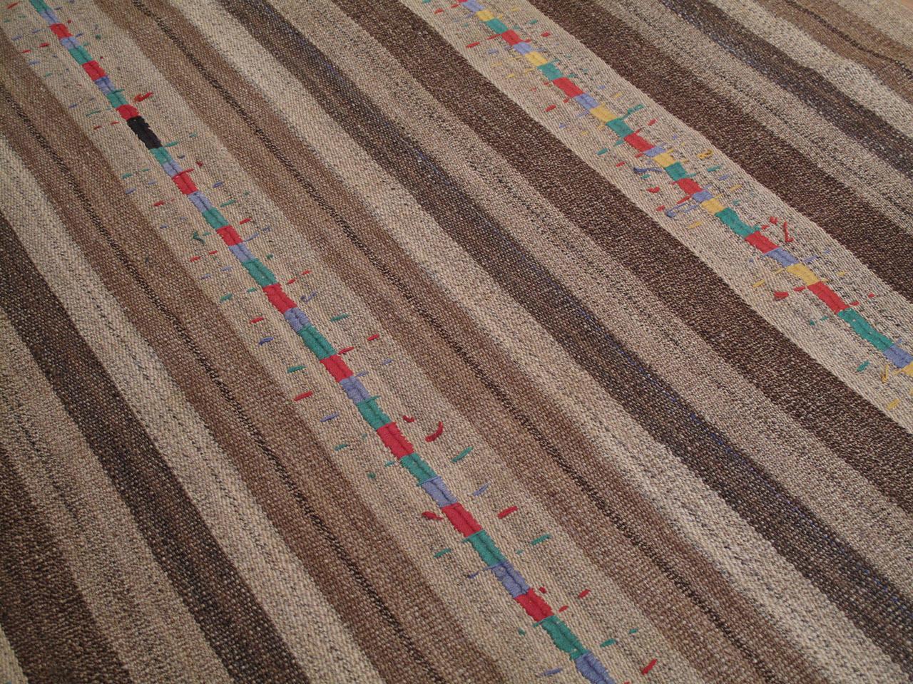 "Turkish Kurdish ""Jajim"" with Colorful Stitching For Sale"