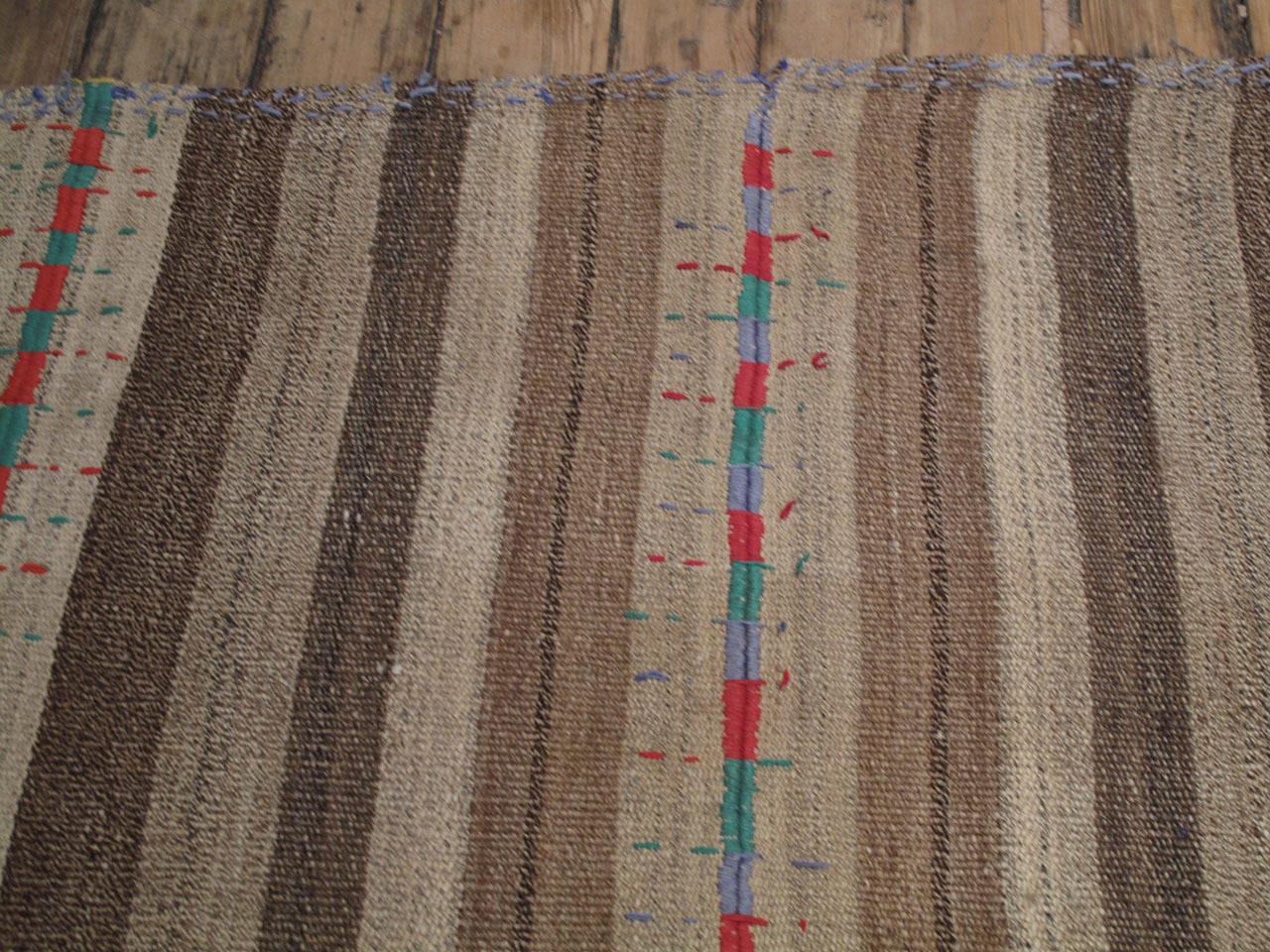 "20th Century Kurdish ""Jajim"" with Colorful Stitching For Sale"