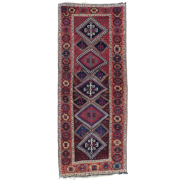 Antique Kurdish Long Rug At 1stdibs