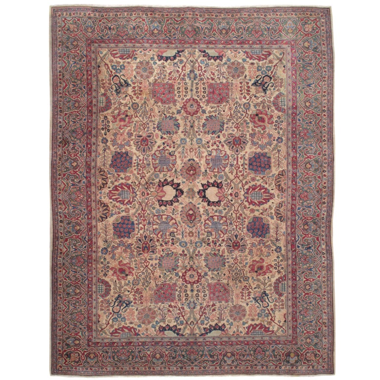 Antique Tabriz Carpet For Sale
