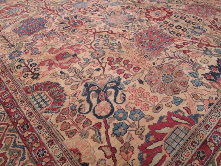 Persian Antique Tabriz Carpet For Sale