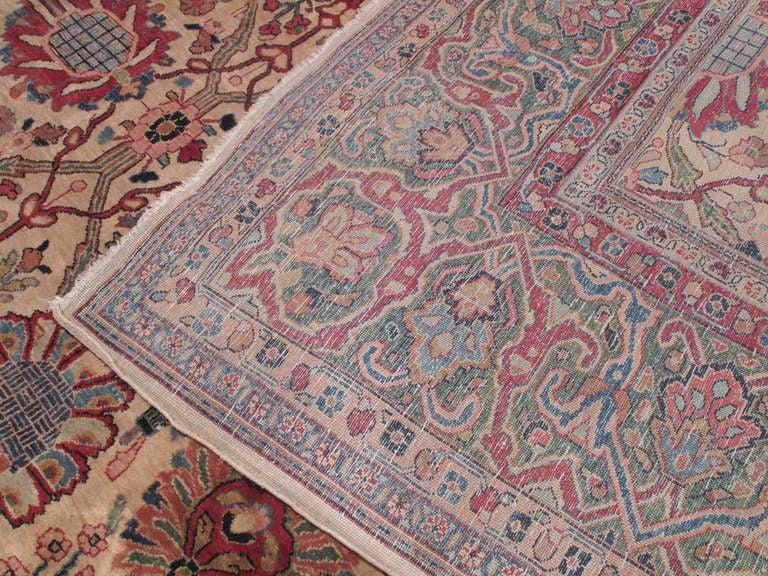 19th Century Antique Tabriz Carpet For Sale
