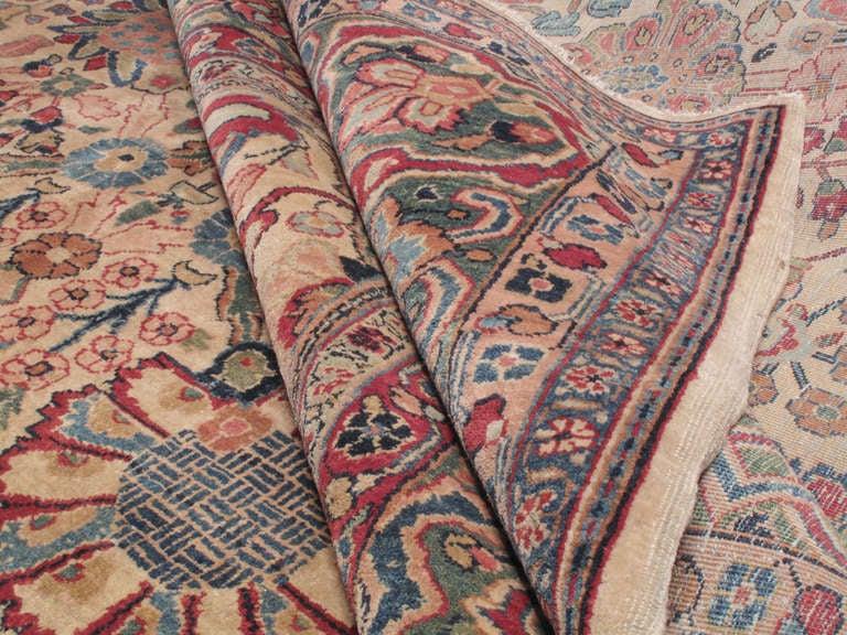 Cotton Antique Tabriz Carpet For Sale