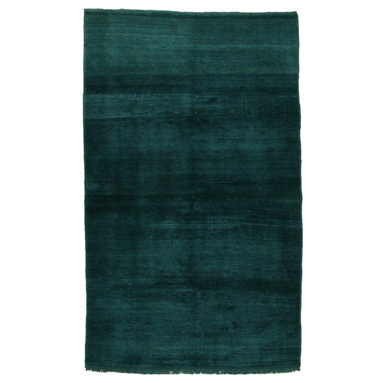 Karapinar Rug In Emerald Green At 1stdibs