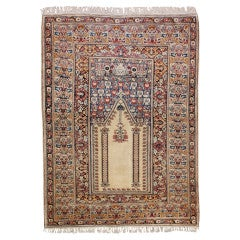 Antique Ghiordes Prayer Rug