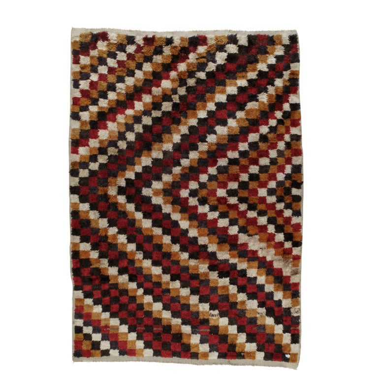 """Checkerboard Rug: Checkered """"Tulu"""" Rug For Sale At 1stdibs"""