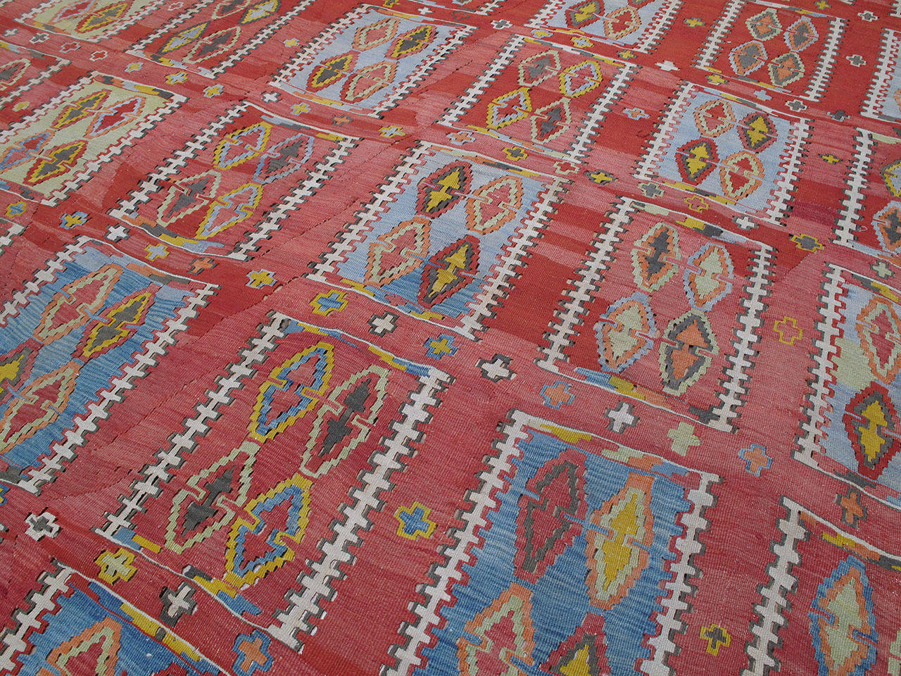 Very Large and Exceptional Antique Sivas Kilim 4