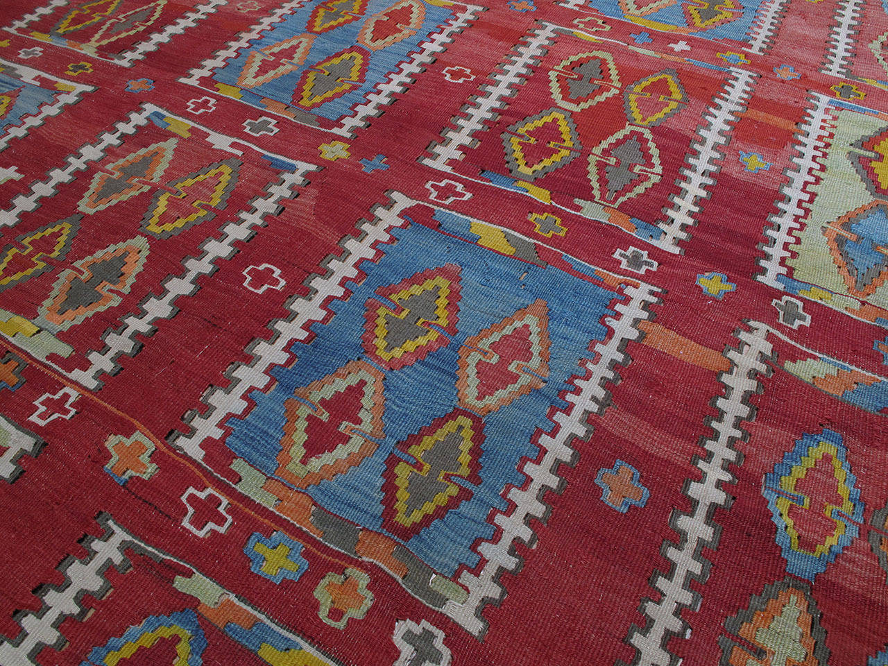 Very Large and Exceptional Antique Sivas Kilim 5