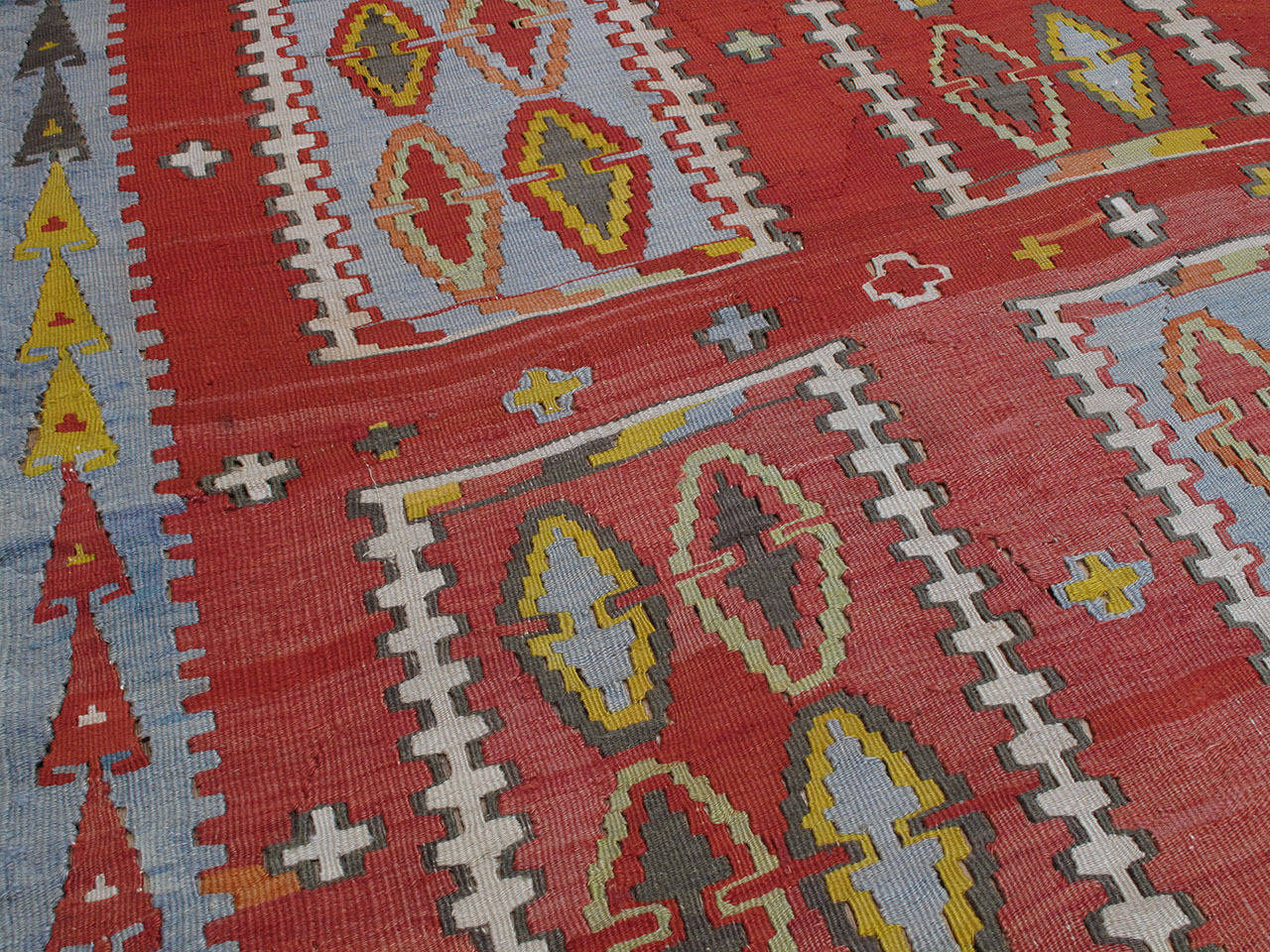 Very Large and Exceptional Antique Sivas Kilim 6