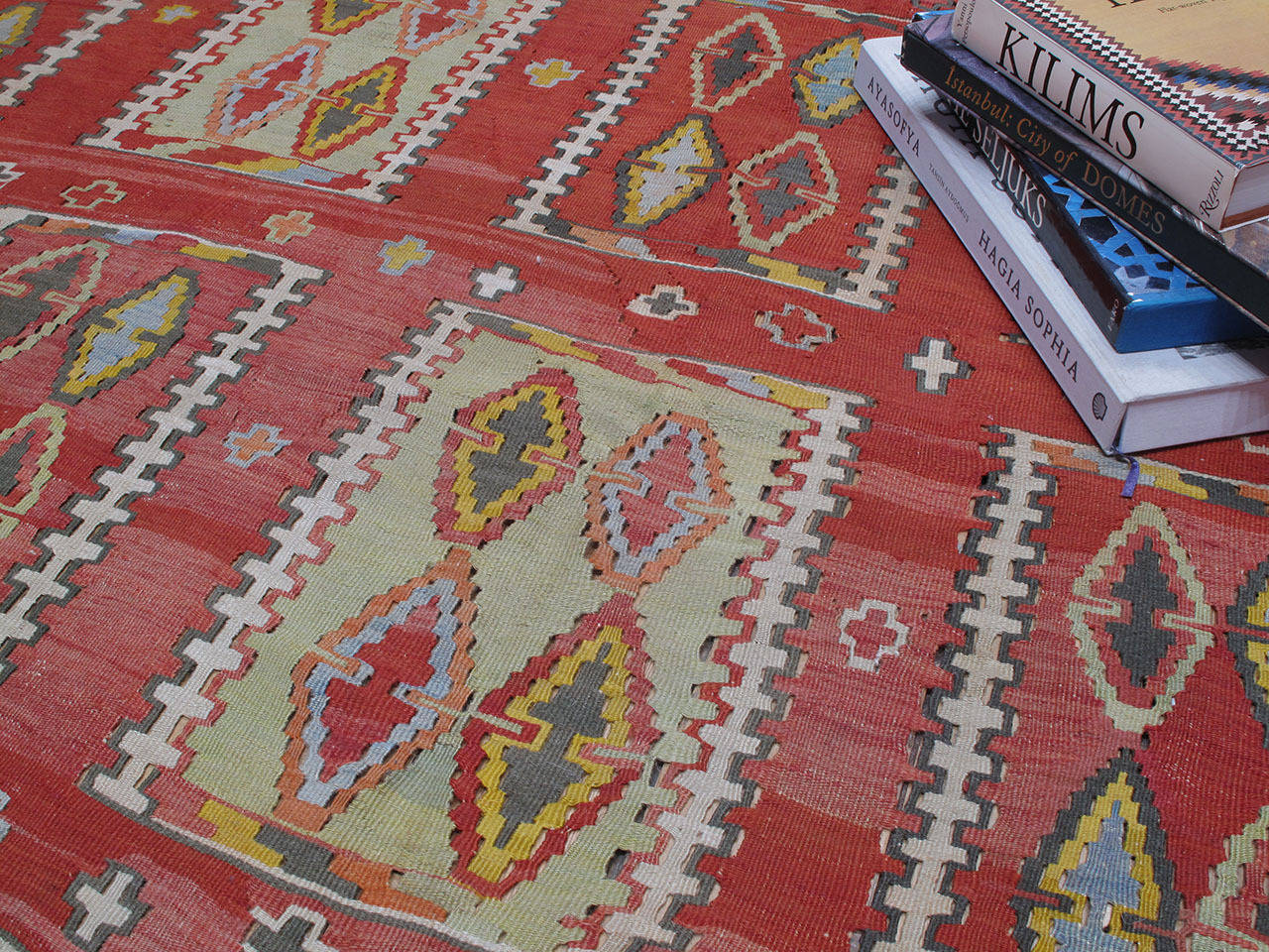 Very Large and Exceptional Antique Sivas Kilim 7