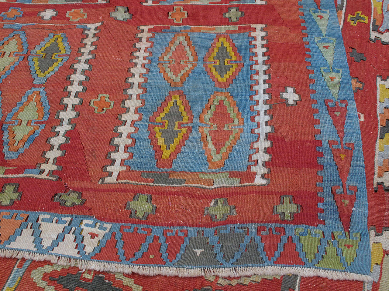 Very Large and Exceptional Antique Sivas Kilim 9