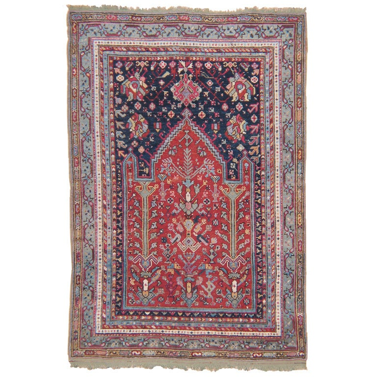 Antique Oushak Prayer Rug At 1stdibs