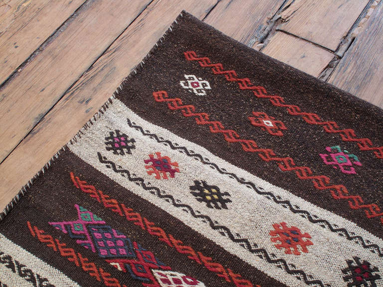 Mid-20th Century Grain Sack Rug For Sale