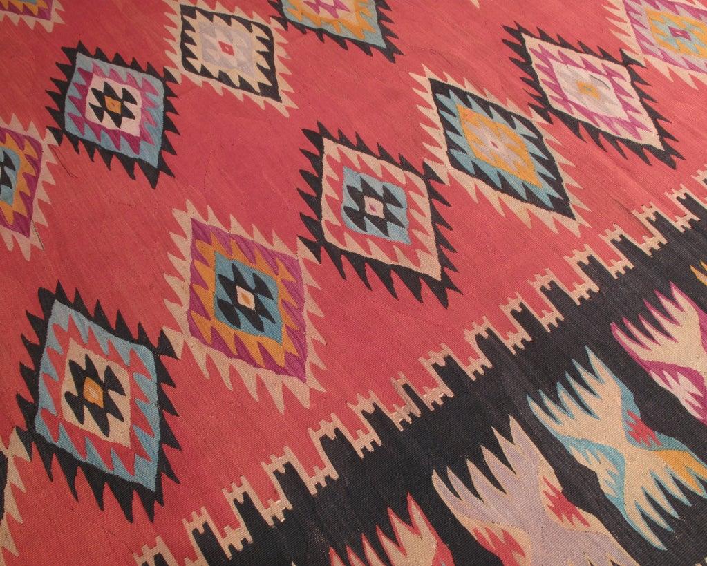 Hand-Woven Balkan Kilim For Sale