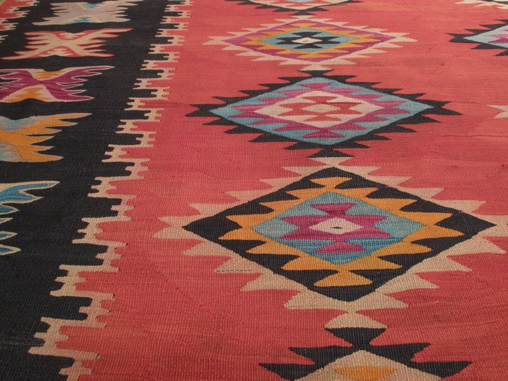 Mid-20th Century Balkan Kilim For Sale