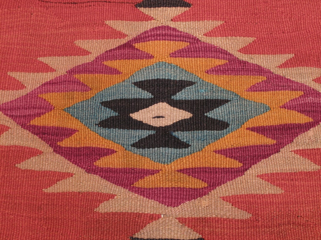 Wool Balkan Kilim Rug For Sale