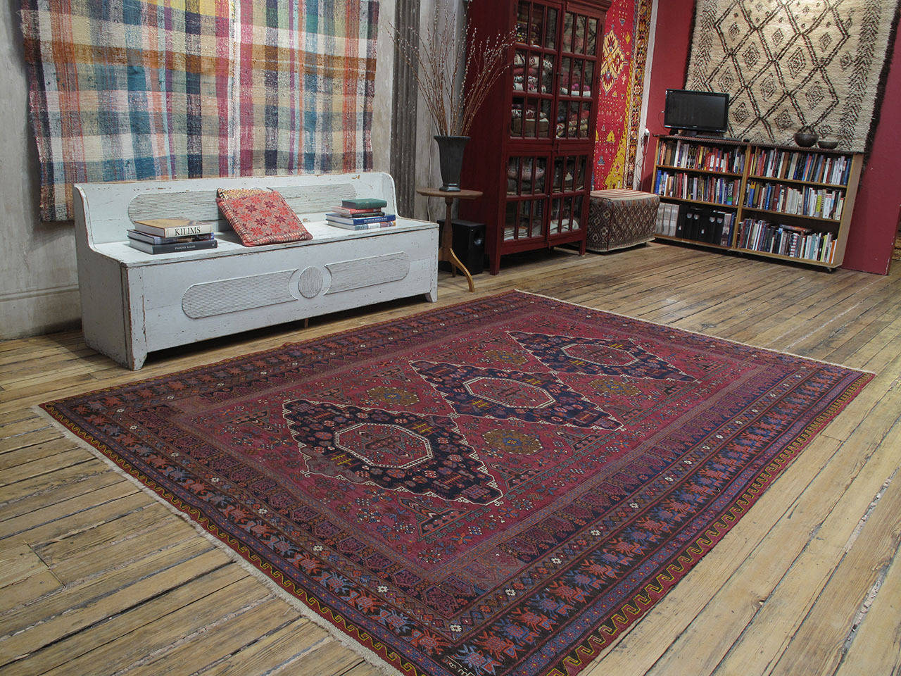 A great old tribal flat-weave from the Caucasus, woven in the intricate