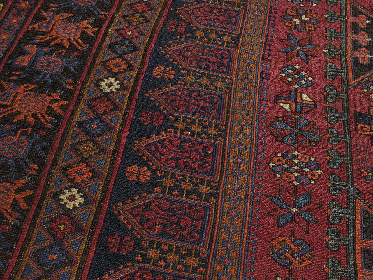 Wool Sumak Carpet For Sale