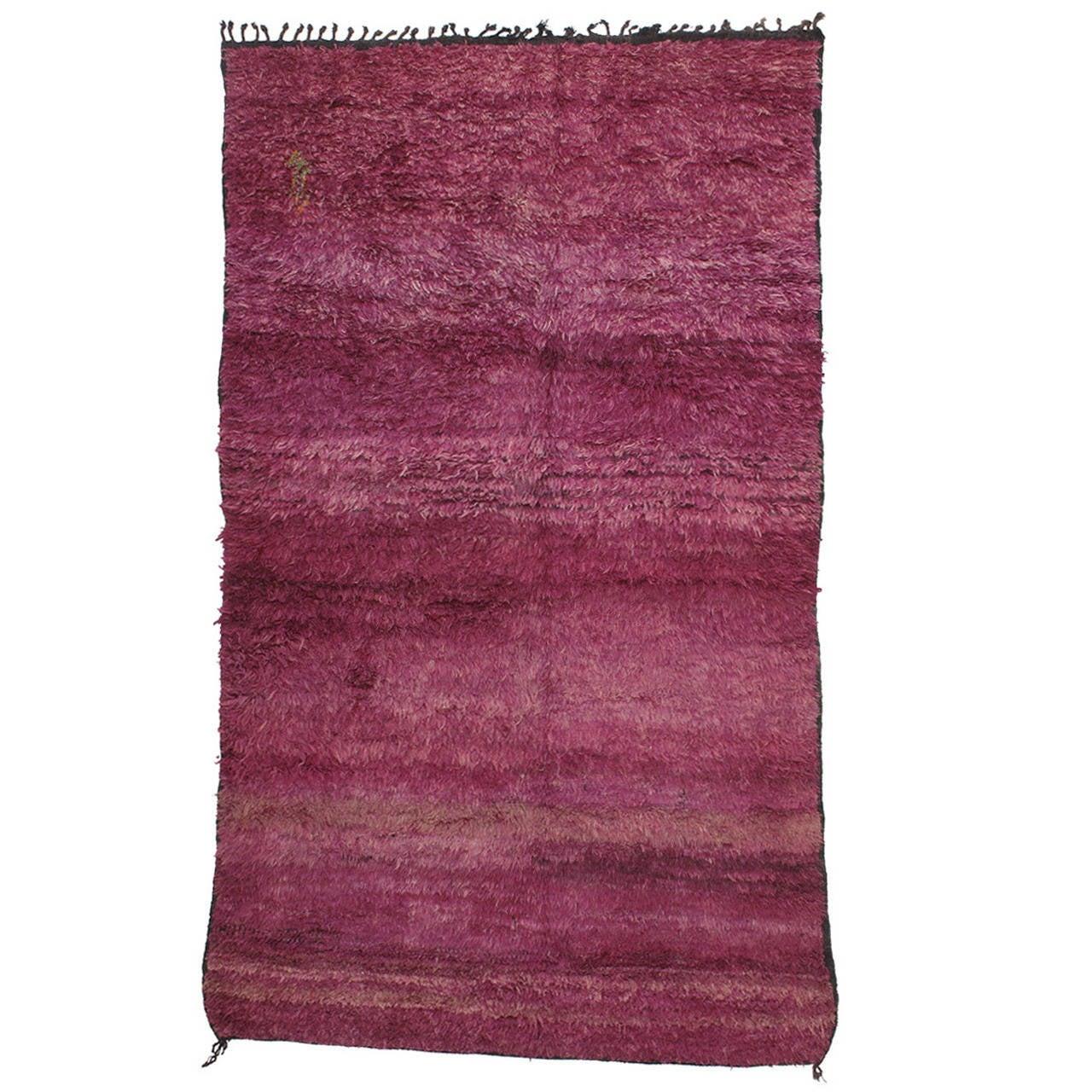 Purple Beni Mguild Moroccan Berber Rug At 1stdibs