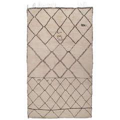 Large and Old Beni Ouarain Carpet