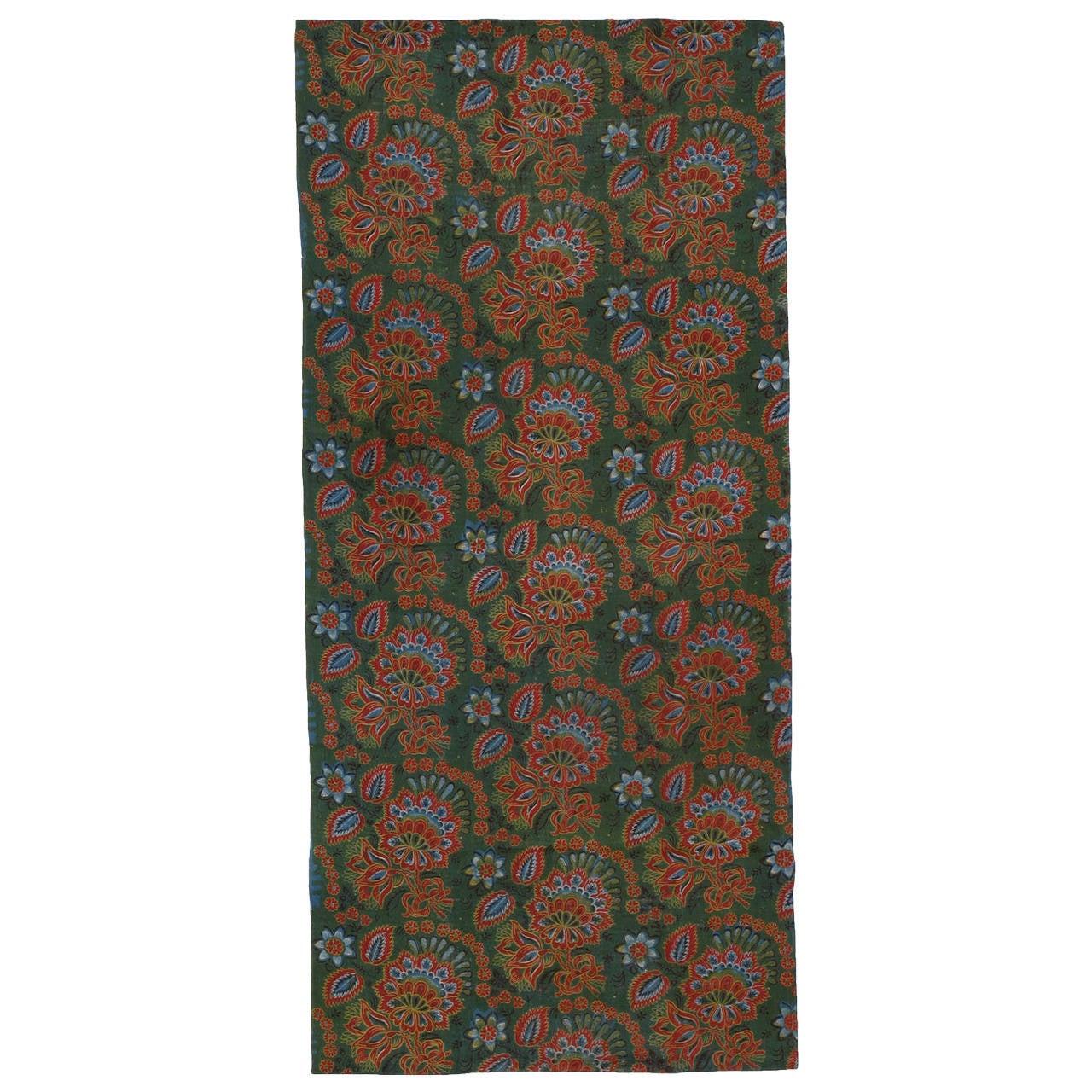 Antique Russian Fabric Panel Rug
