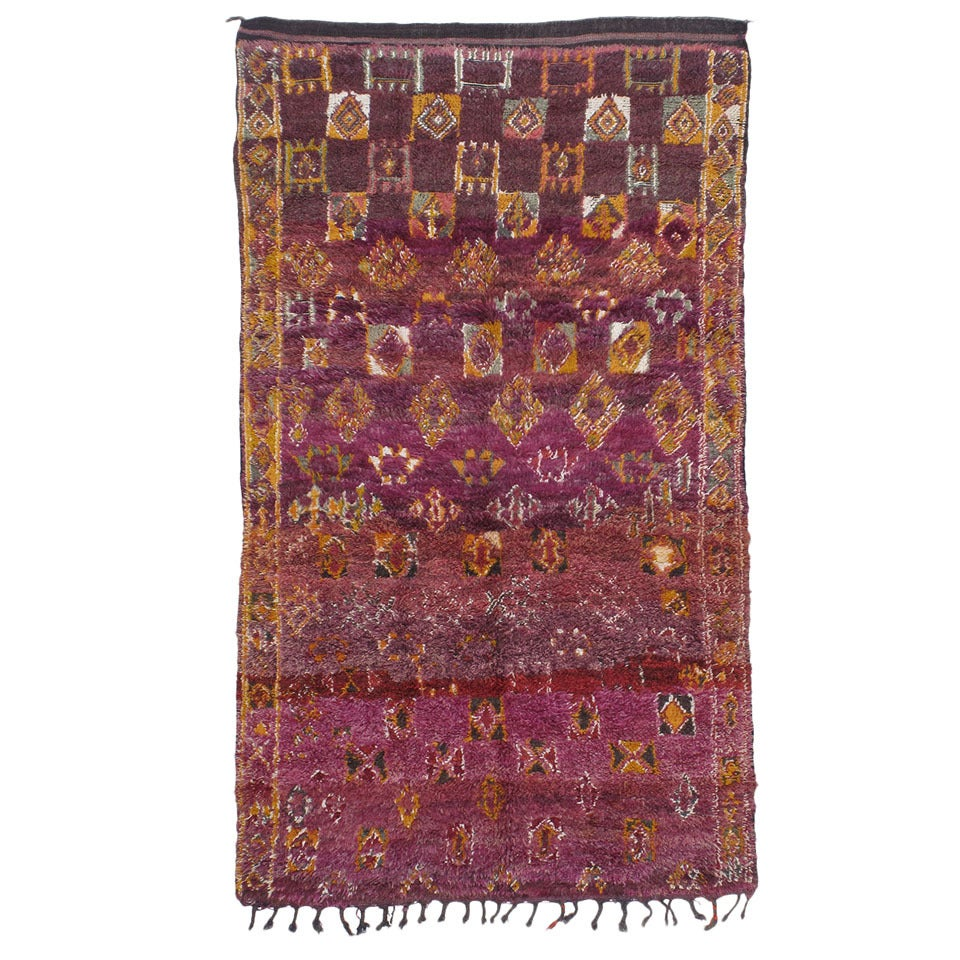 Small Beni Mguild Moroccan Berber Rug For Sale