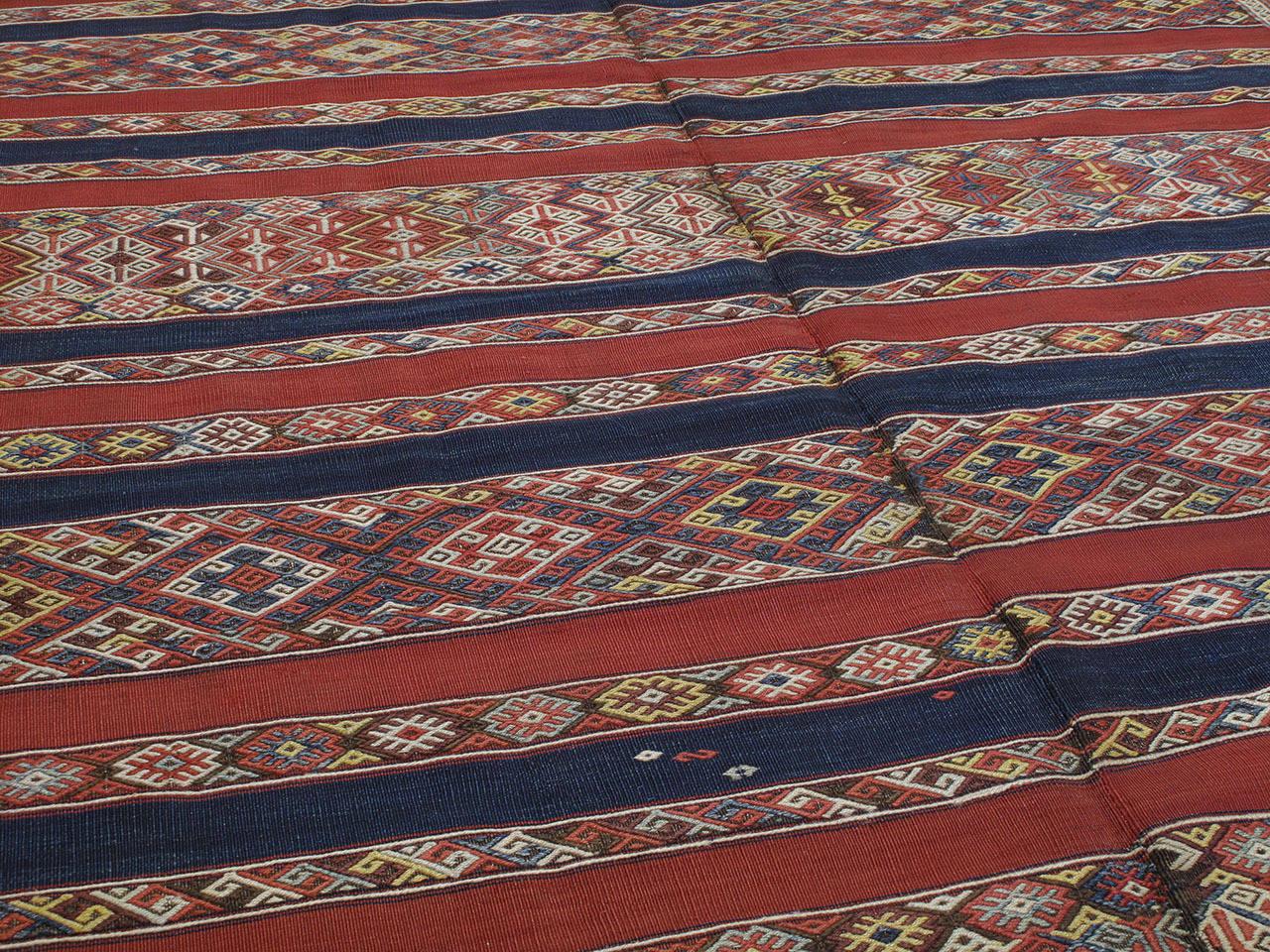 Turkish Antique Malatya Kilim Rug For Sale
