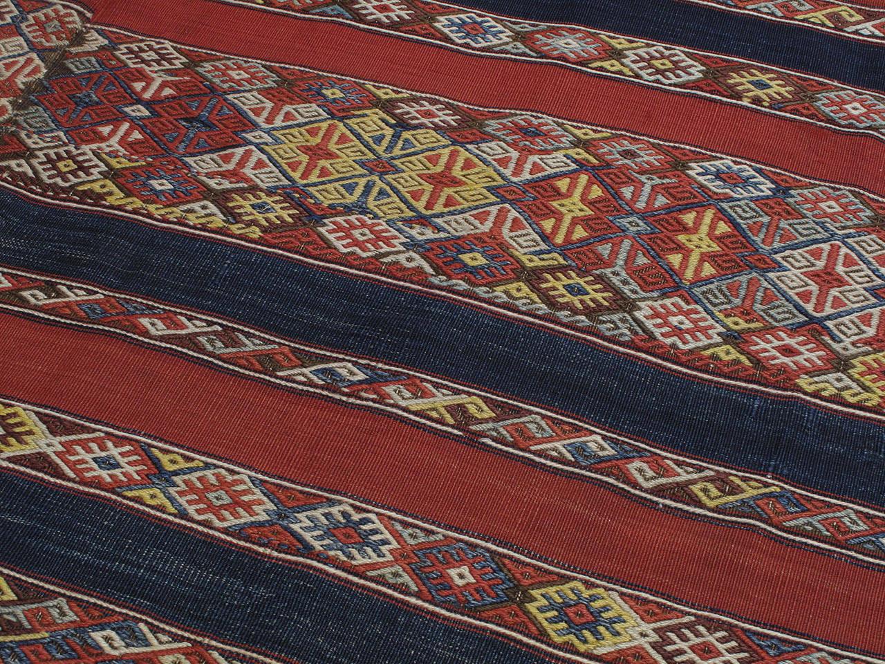 19th Century Antique Malatya Kilim Rug For Sale