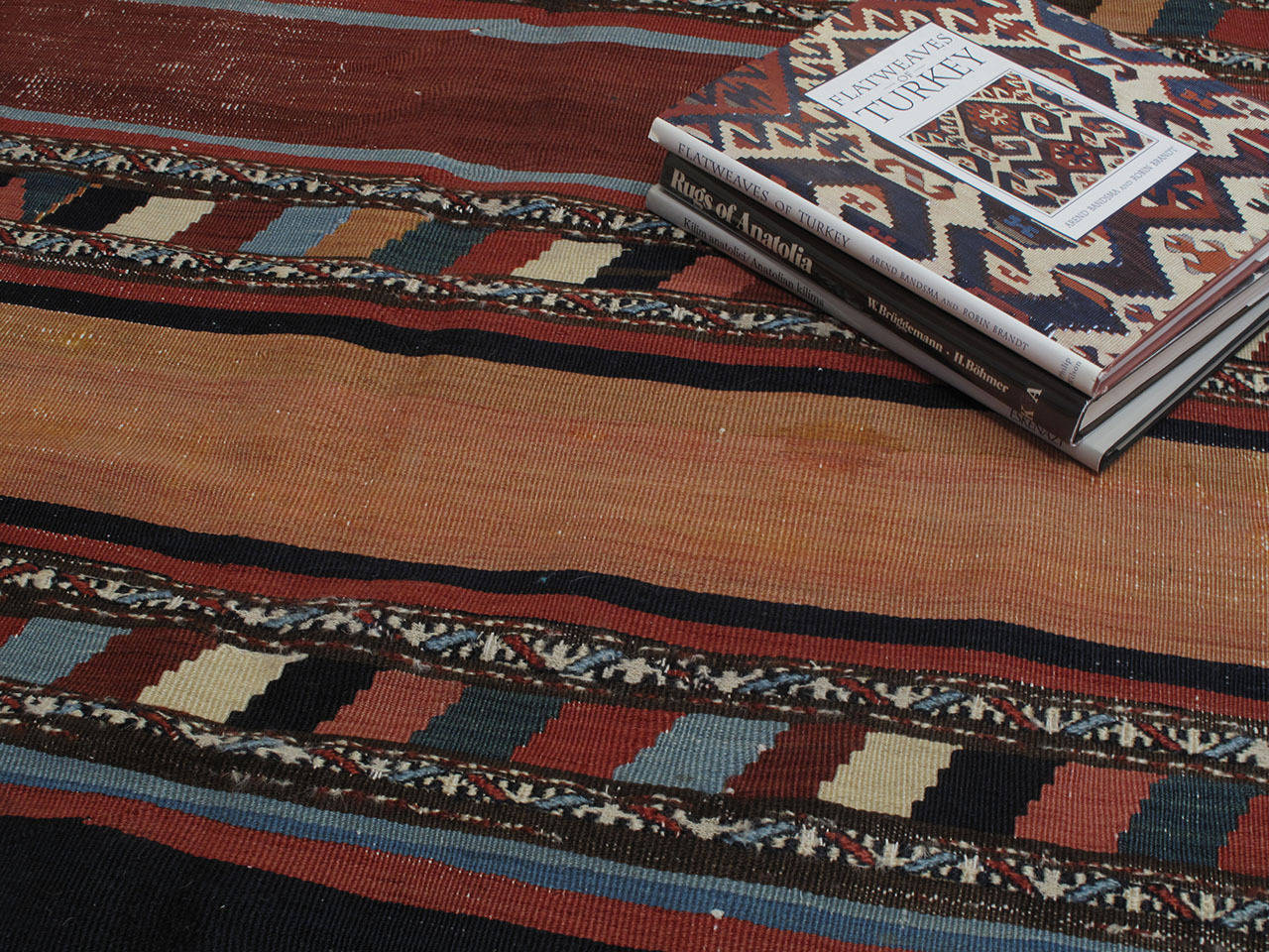 19th Century Antique Shahsavan Kilim Rug For Sale