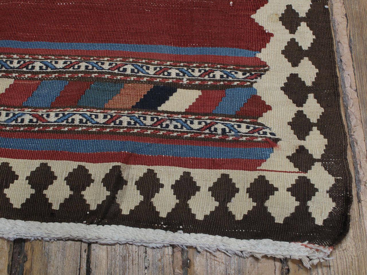 Antique Shahsavan Kilim Rug For Sale 1