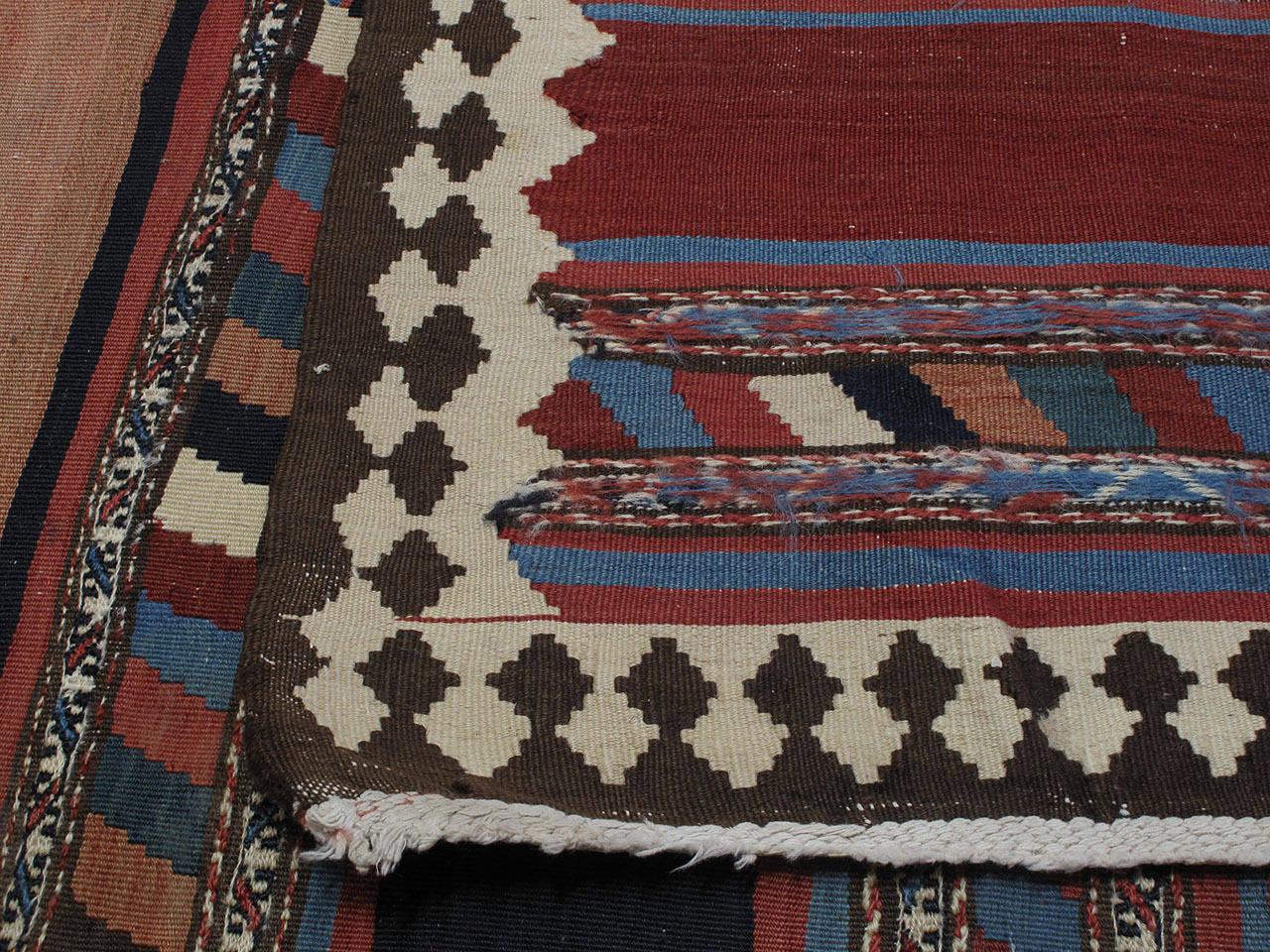 Antique Shahsavan Kilim Rug For Sale 2