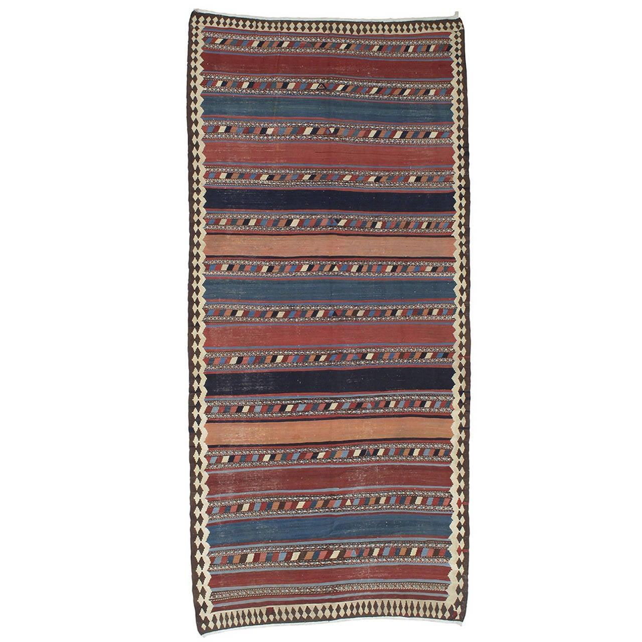 Antique Shahsavan Kilim Rug For Sale