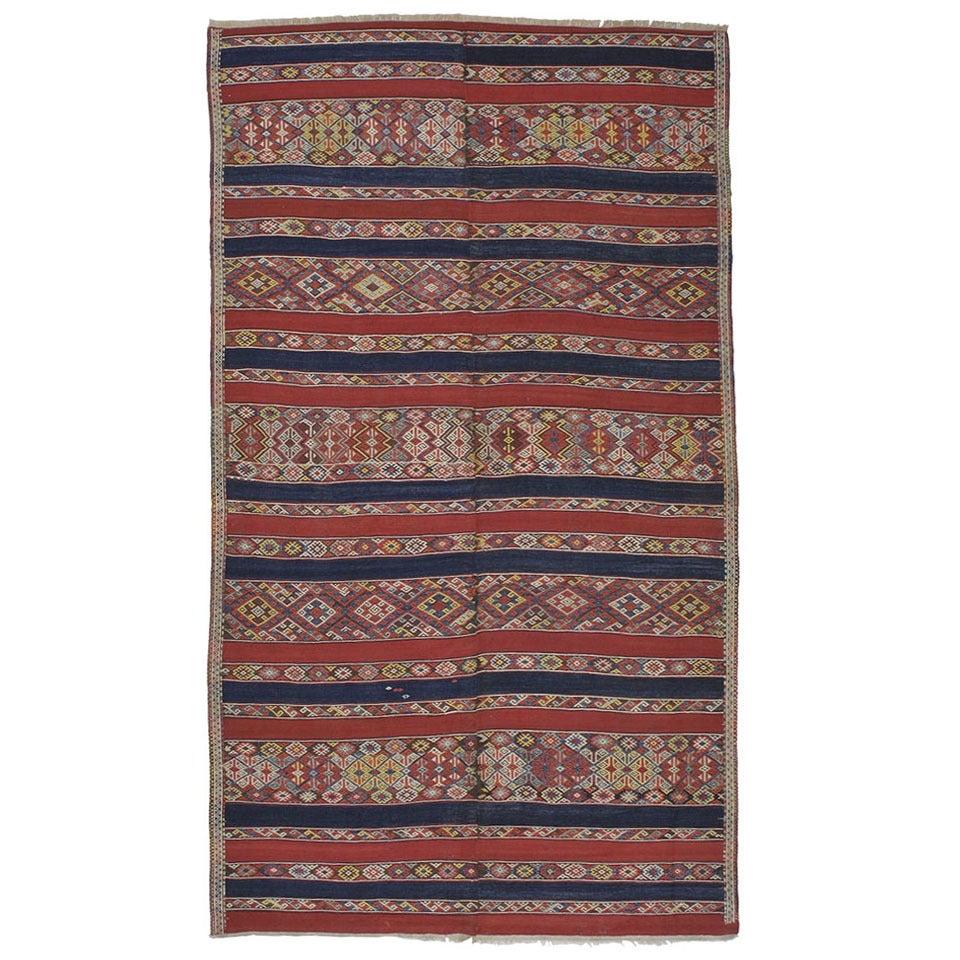 Antique Malatya Kilim Rug For Sale