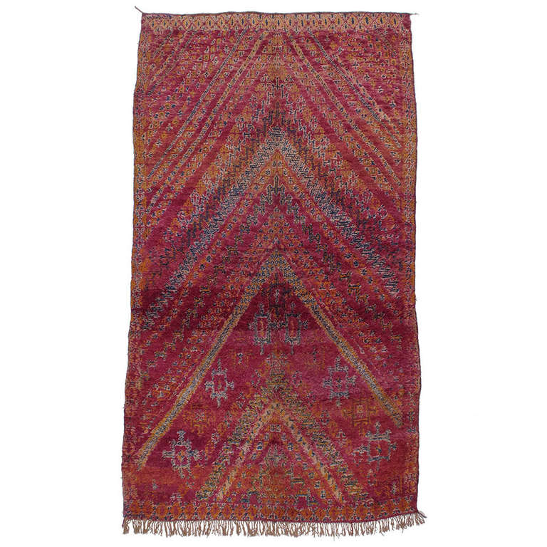 Beni Mguild Moroccan Berber Carpet For Sale