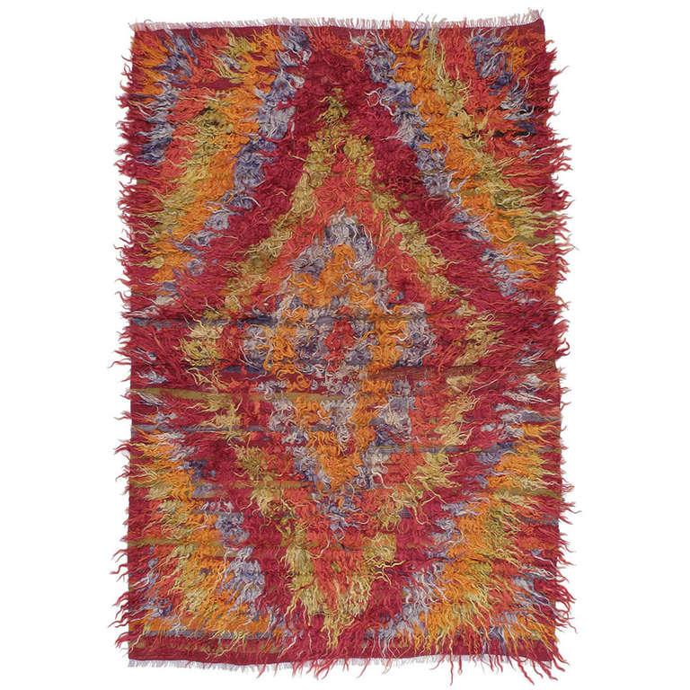 how to clean a long hair rug