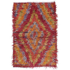 Diamond Tulu Rug in Angora