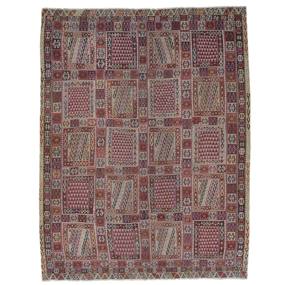 Antique Turkish Bayburt Kilim Rug For Sale At 1stdibs