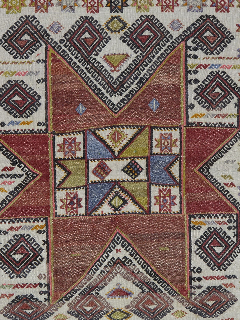 Small Kilim With Large Star For Sale At 1stdibs