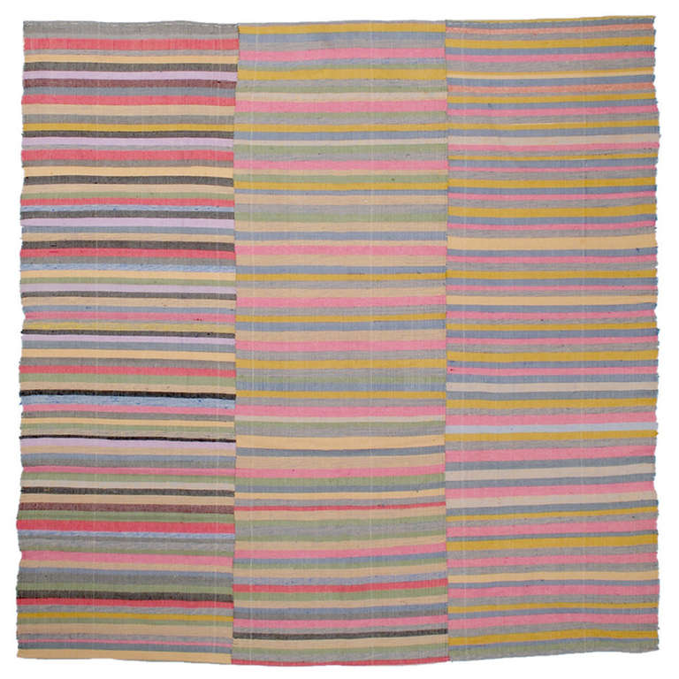 Colorful Striped Cover Rug