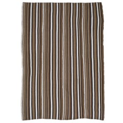Kilim Rug with Vertical Stripes