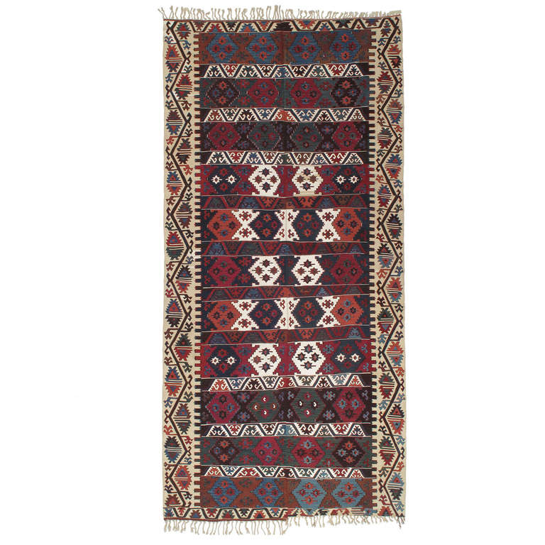 Antique Central Anatolian Kilim Rug