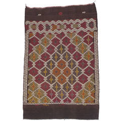 Tribal Bag Face Small Kilim Rug