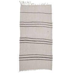 Jute Kilim with Stripes