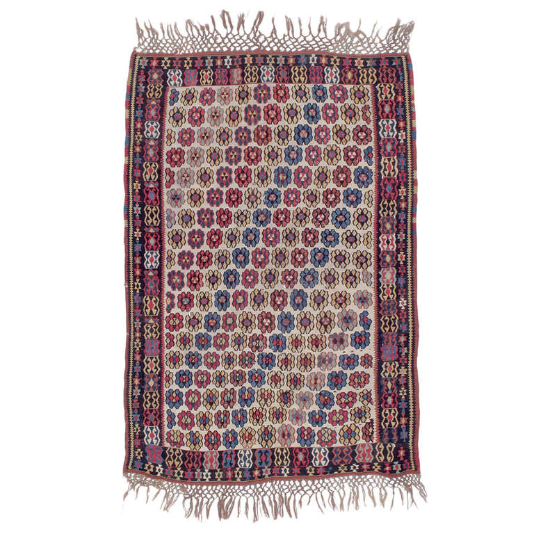 "Antique Erzurum ""Flowers"" Kilim For Sale"