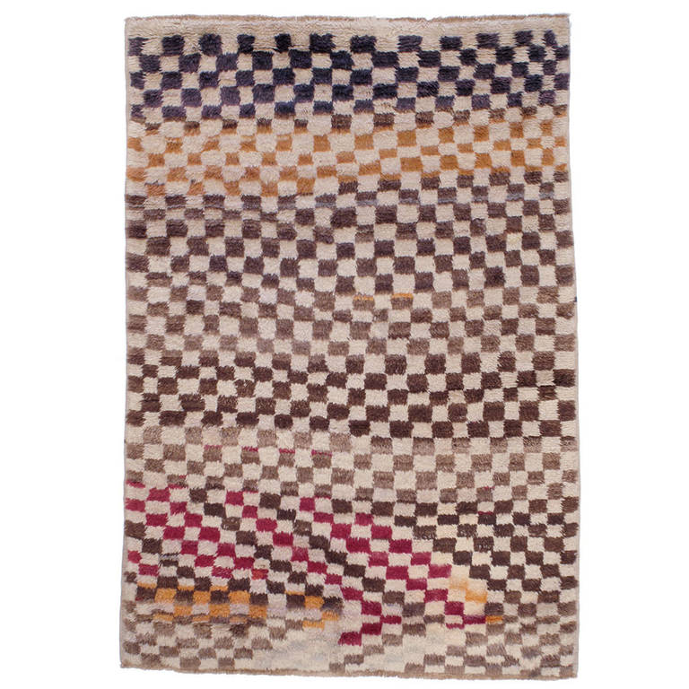 Colorful checkerboard tulu rug for sale at 1stdibs for Colorful rugs for sale