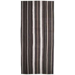 Large Kilim Rug with Vertical Bands