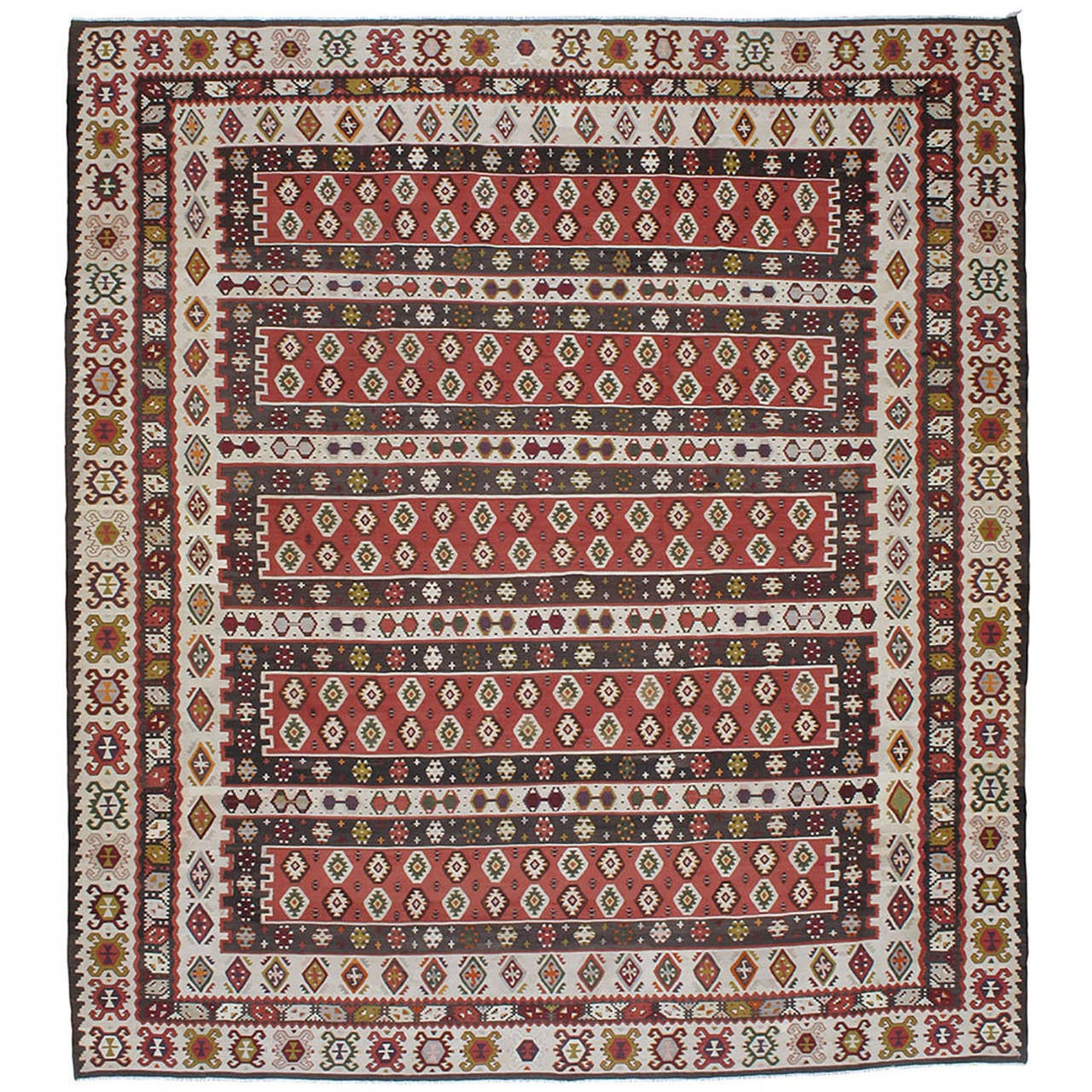 Balkan Kilim Rug For Sale